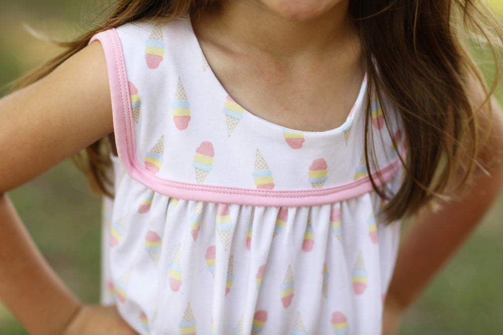 Abigail Dress - Ice Cream