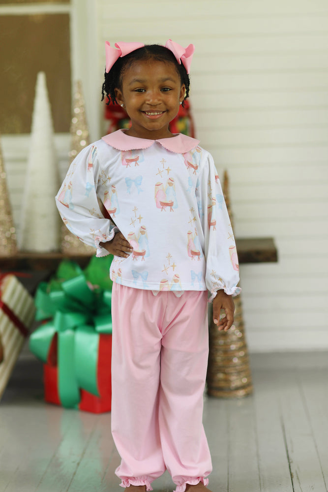 Cora Bubble Pant Set - Away in a Manger