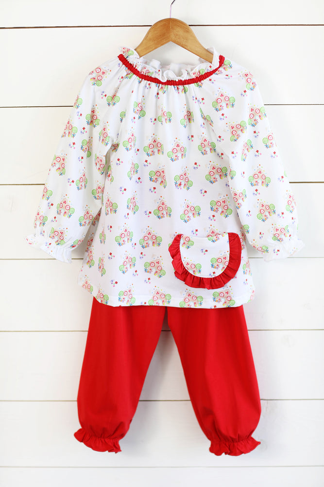 Hollis Bubble Pant Set - Gingerbread Wishes