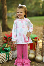 Hollis Ruffle Pant Set - Merry and Bright