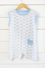 Rhett Romper - Little Blue Truck