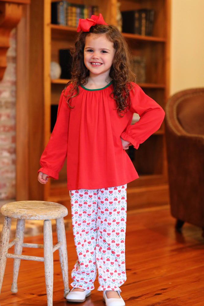 Christmas Hearts Bubble Pant Set