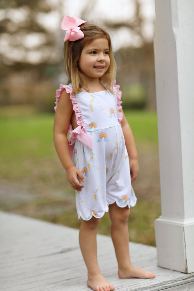 Gracie Romper - Rainbow Unicorn