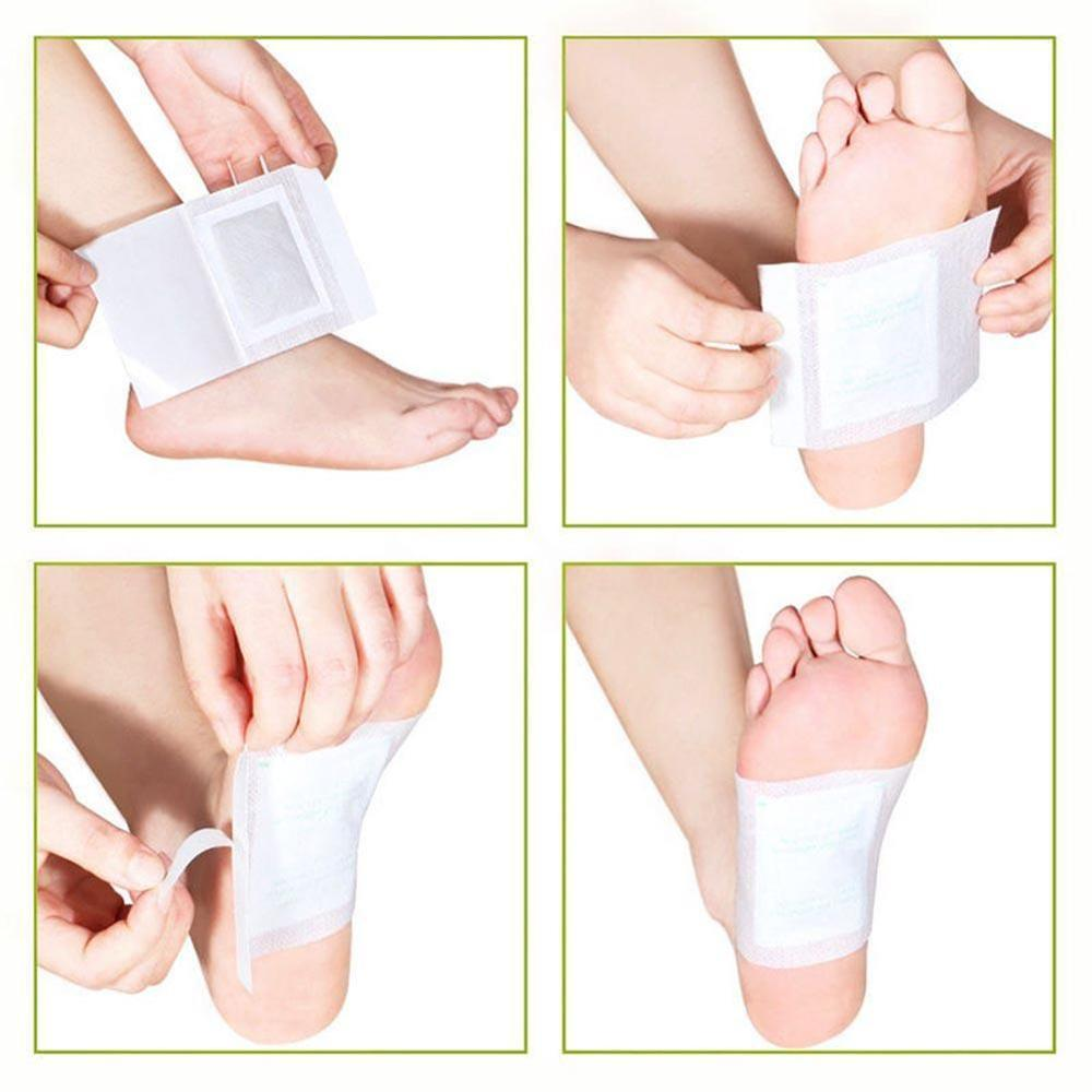 DETOX CLEANSING HERBAL FOOT PATCHES - (10 PCS)