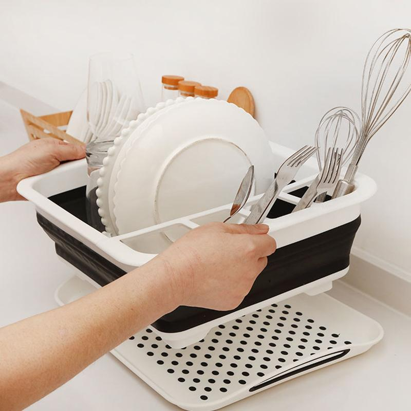Foldable Dish Rack Kitchen Storage Holder