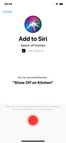 How do I use Siri Shortcuts with my smart lamp - Step 5.1