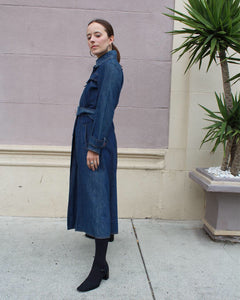 1970s Denim Trench