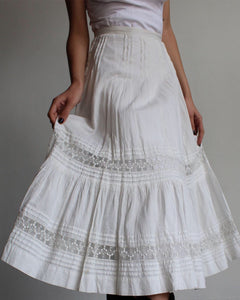 Edwardian White Cotton Skirt
