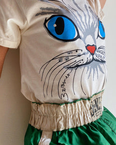 My Eyes Are Up Here! Kitty Tee