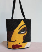 Load image into Gallery viewer, 1980s Beaded Graphic Handbag