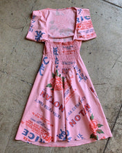 Load image into Gallery viewer, Pink & White Notan Rice Sack Dress