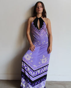 1990s Leonard Paris Maxi Dress