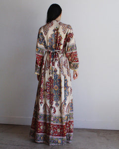 1960s Indian Cotton Caftan Dress