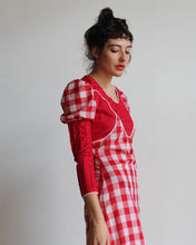 Load image into Gallery viewer, 1970s Gingham Maxi Dress
