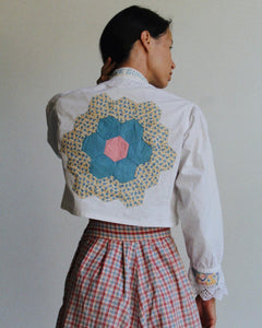 Antique Butterfly Patchwork Blouse