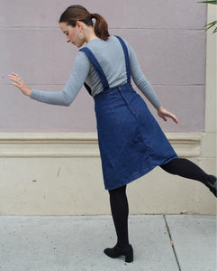1970s Deadstock Maverick Super Bib Denim Overall Dress
