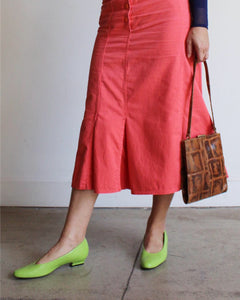 1980s Salmon Mermaid Skirt