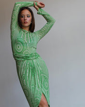 Load image into Gallery viewer, 1990s Jean Paul Gaultier Green Mesh Dress