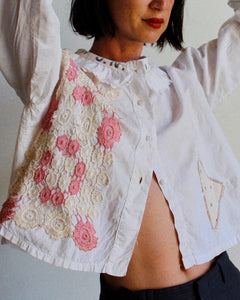 The Antique Pierrot Crochet Blouse