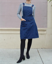Load image into Gallery viewer, 1970s Deadstock Maverick Super Bib Denim Overall Dress