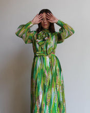 Load image into Gallery viewer, 1960s Green Psychedelic Dress