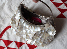 Load image into Gallery viewer, 90s Capiz Shell Metal Ring Handbag