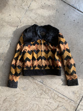 Load image into Gallery viewer, 1960s Patchwork Leather Bomber Jacket