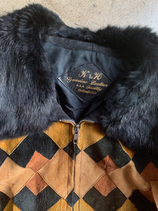 1960s Patchwork Leather Bomber Jacket
