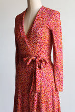 Load image into Gallery viewer, 90s Diane Von Furstenberg Silk Wrap Midi Dress
