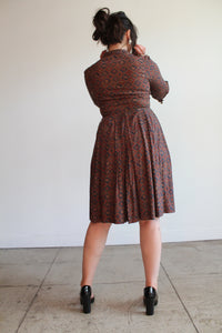 1950s Paisley Print Cotton Shirtwaist Dress
