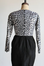 Load image into Gallery viewer, 80s Sequined Animal Print Party Dress
