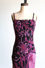 Load image into Gallery viewer, 90s Betsey Johnson Floral Print Midi Slip Dress