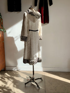 1960s Faux Rabbit Fur Coat