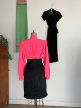 Load image into Gallery viewer, 1980s Oleg Cassini Hot Pink Silk Blouse