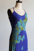 Load image into Gallery viewer, 90s Betsey Johnson Indigo Floral Midi Slip Dress