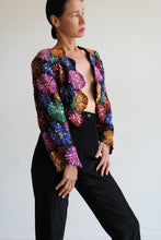 Load image into Gallery viewer, 80s Daisy Sequin Cropped Jacket