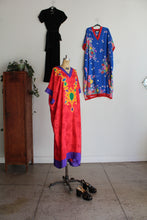 Load image into Gallery viewer, 1980s Oscar de la Renta Red Gold Medallion Print Caftan