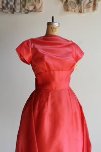 1960s Hot Pink Bubble Dress