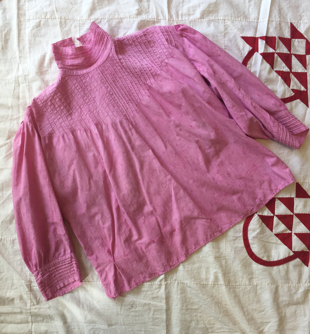Victorian Pink Cotton Blouse