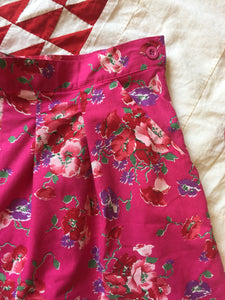 1980s Laura Ashley Cotton Floral Shorts