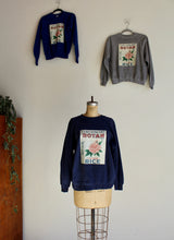 Load image into Gallery viewer, Botan Rice Blue Vintage Raglan Sweatshirt - M/L