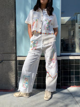 Load image into Gallery viewer, Mexican Cowboy Days of the Week Fringe Patchwork Pants