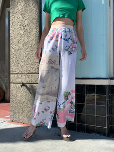 Lake Side Patchwork Grass Feed Pants