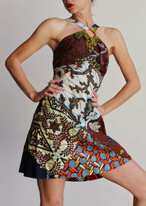 1960s Patchwork Batik Halter Playsuit