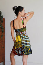 Load image into Gallery viewer, 1960s Patchwork Batik Halter Playsuit