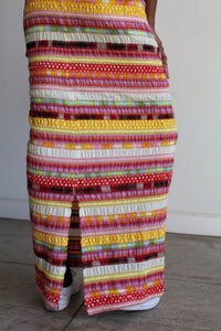 1960s Patchwork Yarn Maxi Skrit