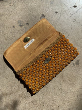 Load image into Gallery viewer, 1960s Italian Gold Plastic Beaded Crochet Clutch