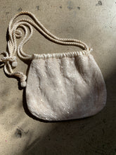 Load image into Gallery viewer, 1980s Gunn Trigère White Satin Beaded Crossbody Satchel Purse