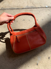 Load image into Gallery viewer, 1990s Cole Haan Pumpkin Spice Leather Handbag