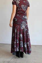 Load image into Gallery viewer, 90s Fuzzi Mesh Floral Print Layered Maxi Dress